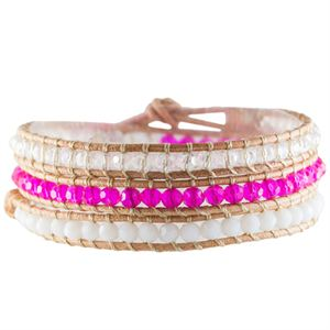 Picture of Brilliant Pink Crystal Beaded Wrap